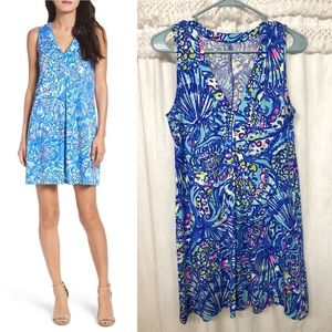 Lilly Pulitzer Amina Swing Dress Blue Ceviche